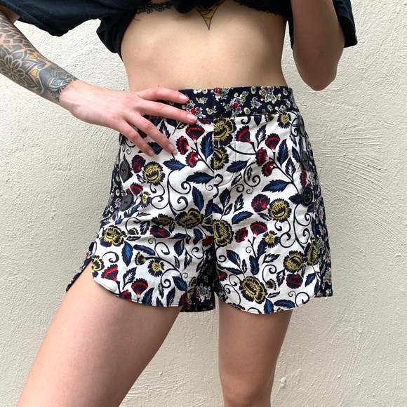 Anthropologie Pants - Anthropologie Blossomed Sailor Shorts By Cartonnie